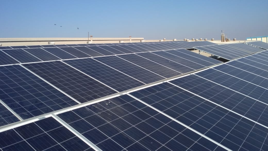 50KW On Grid Solar Rooftop Project Installed Successfully at Than.