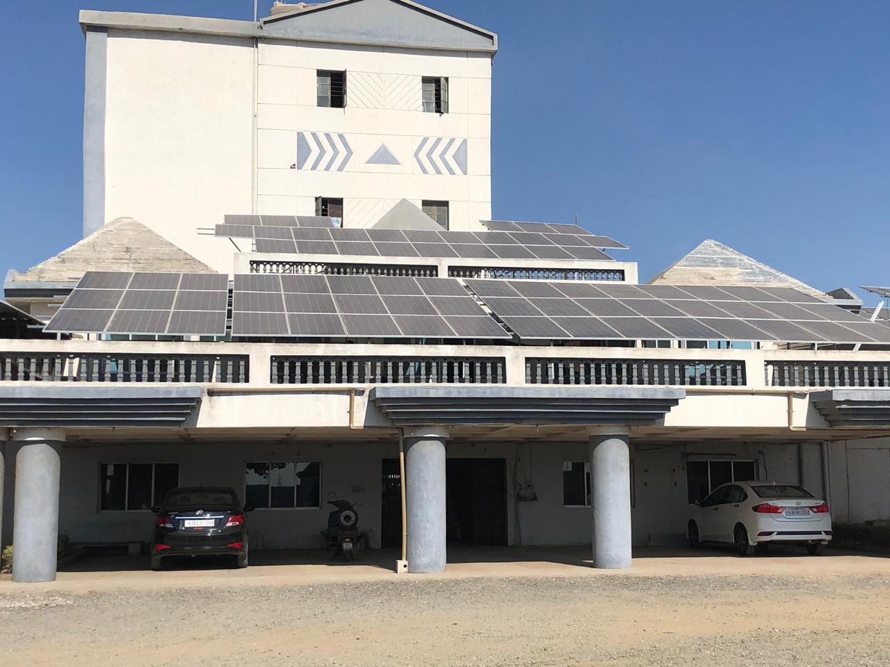 155KW On Grid Solar Rooftop Project Installed Successfully at Rajkot